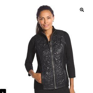 NWT Chico's Quilted Black Vest Size 0